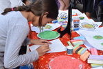 <p>Lower and middle school students celebrate Diwali together.</p>