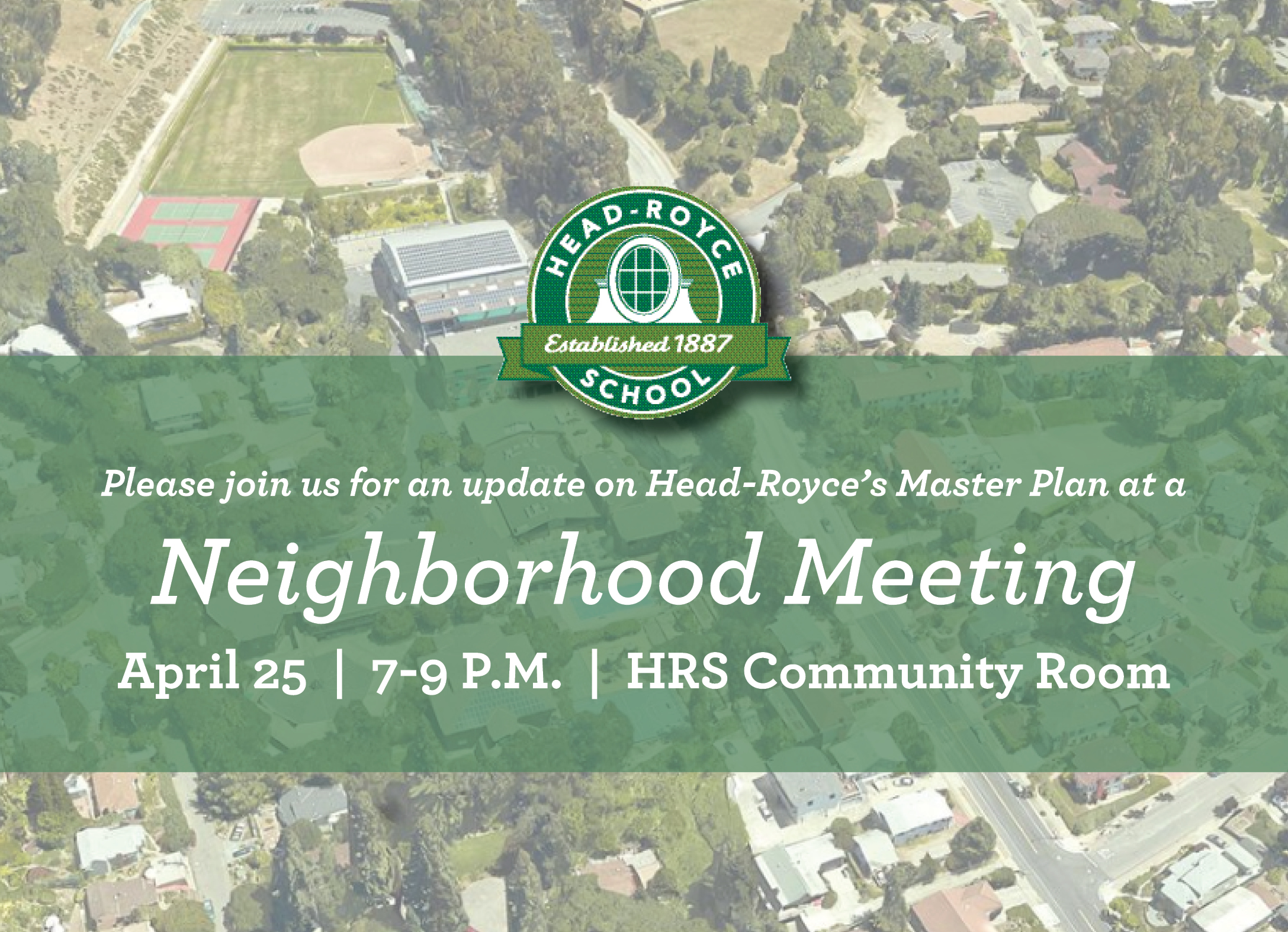 Neighborhood Meeting on April 25: Master Plan Update