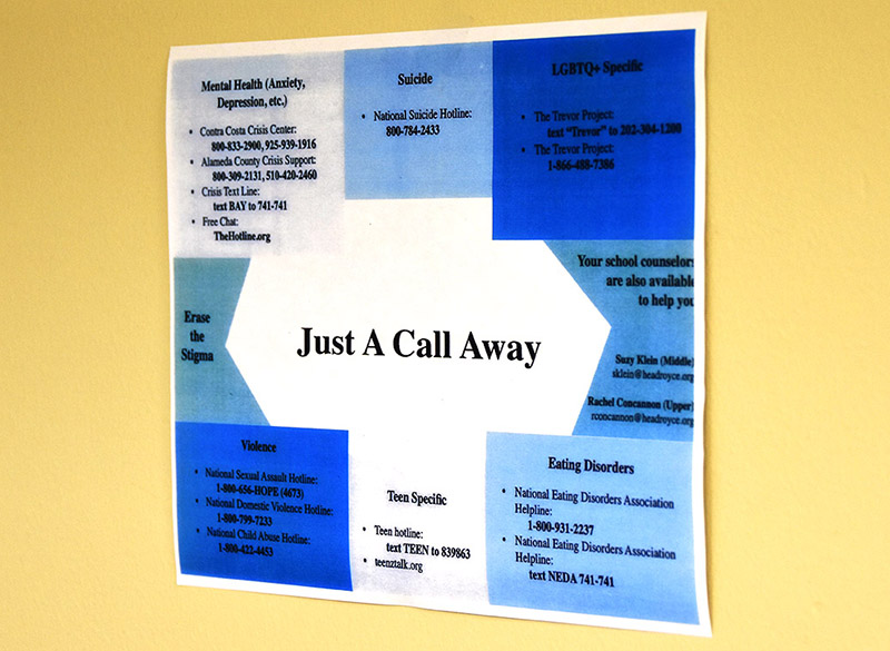 Just A Call Away Mental Health Poster