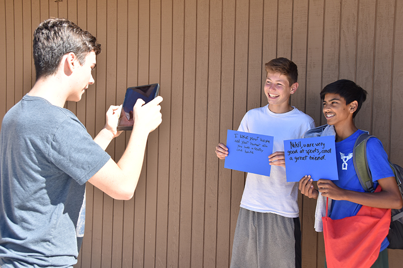 BALANCE & WELL-BEING: Middle School Students Spread Notes of Validation