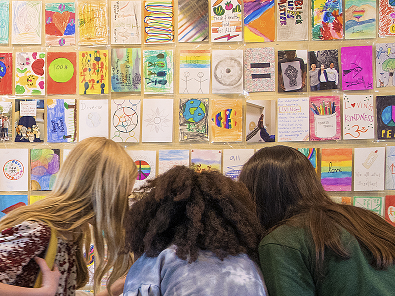 EQUITY & INCLUSION: School-wide Art Project Highlights Equity & Inclusion on Campus